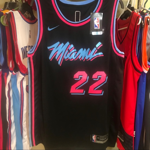 best cheap e60f5 4a437 Jimmy Butler Miami Heat NBA Vice City Night Jersey NWT